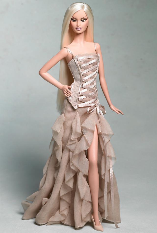 Как сделать кукле барби платье