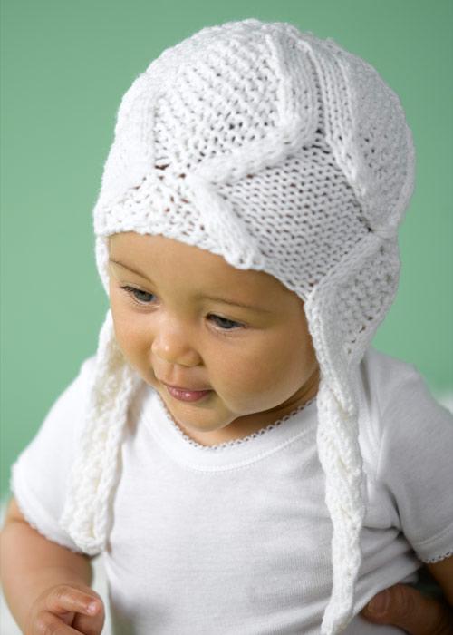 шапочка с ушками для девочки