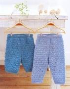Как связать детские штанишки