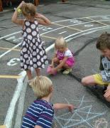 Игры нарисованные на асфальте