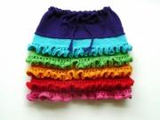 Как связать юбку для девочки