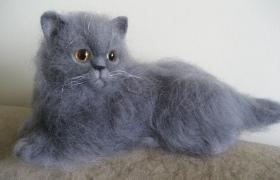 Валяный котенок: любимая игрушка своими руками